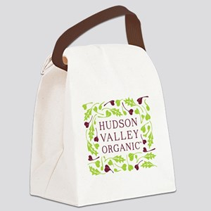 Hudson Valley Organic Logo Canvas Lunch Bag