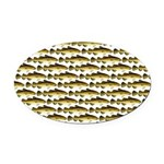 Cod Pattern 2 Oval Car Magnet