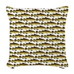 Cod Pattern 2 Woven Throw Pillow