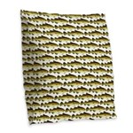 Cod Pattern 2 Burlap Throw Pillow