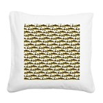 Cod Pattern 2 Square Canvas Pillow