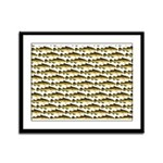 Cod Pattern 2 Framed Panel Print