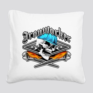 Ironworker 1 Square Canvas Pillow