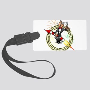 Happy New Year Large Luggage Tag