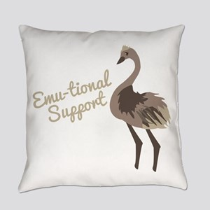Emu-tional Support Everyday Pillow