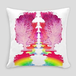 Rainbow Trees Trail Everyday Pillow