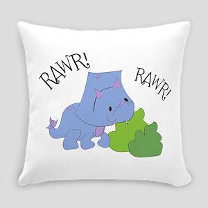 Rawr Dinosaur Everyday Pillow