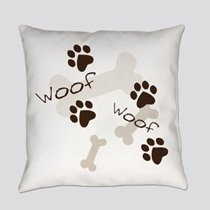 Woof Woof Everyday Pillow