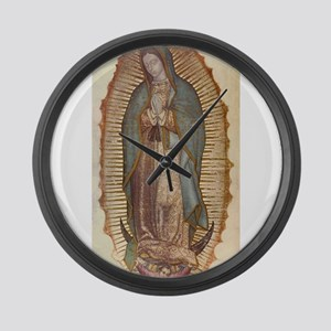 Our Lady Of Guadalupe Large Wall Clock