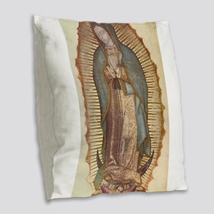 Our Lady Of Guadalupe Burlap Throw Pillow