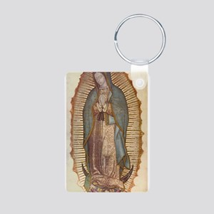 Our Lady Of Guadalupe Aluminum Photo Keychain
