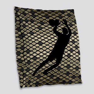 Soccer Goal Keeper Classic Goalie Art Burlap Throw
