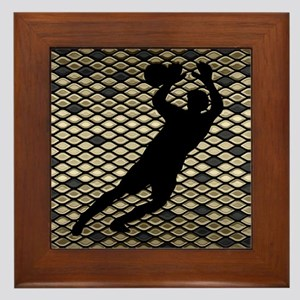 Soccer Goal Keeper Classic Goalie Art Framed Tile