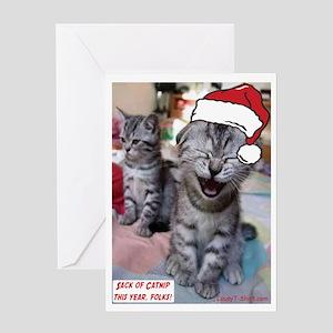 Sack Of Catnip Greeting Card
