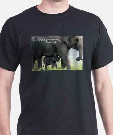 Cute Mother elephant and baby elephant T-Shirt