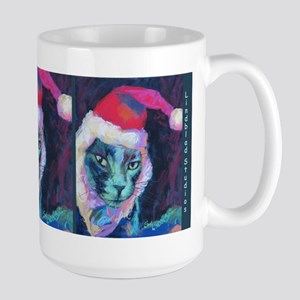 Christmas Time With Leo The Cat Large Mugs