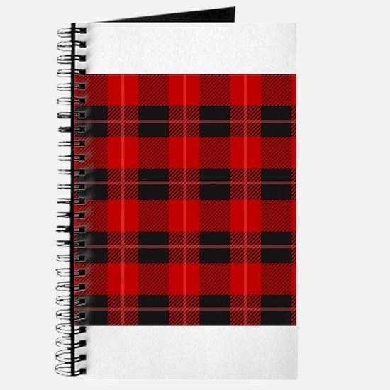 Red and black plaid geometric pattern Journal