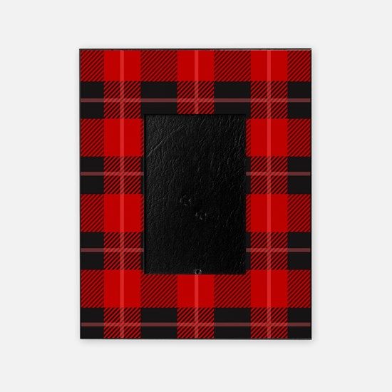 Red and black plaid geometric patte Picture Frame