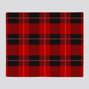 Red and black plaid geometric patte Throw Blanket