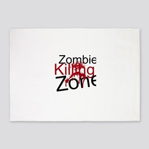 Zombie Killing Zone 5'x7'Area Rug