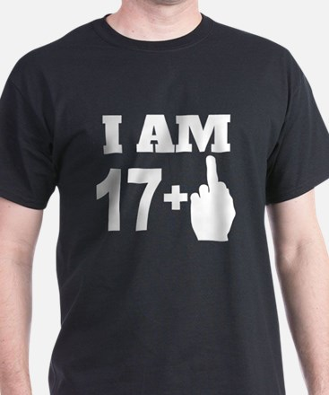 18 Years Old Middle Finger T-Shirt