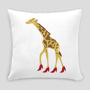 Heeled Giraffe Everyday Pillow