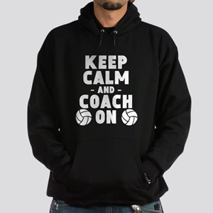 Keep Calm And Coach On Volleyball Hoodie
