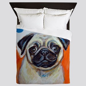 pug, pug painting, cute pug, pug pop art, pug desi