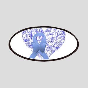 Blue awareness ribbon Patch