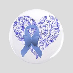 Blue awareness ribbon Button