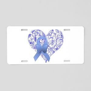 Blue awareness ribbon Aluminum License Plate