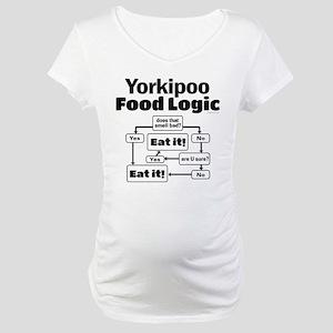 Yorkiepoo Food Maternity T-Shirt