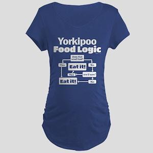 Yorkiepoo Food Maternity Dark T-Shirt