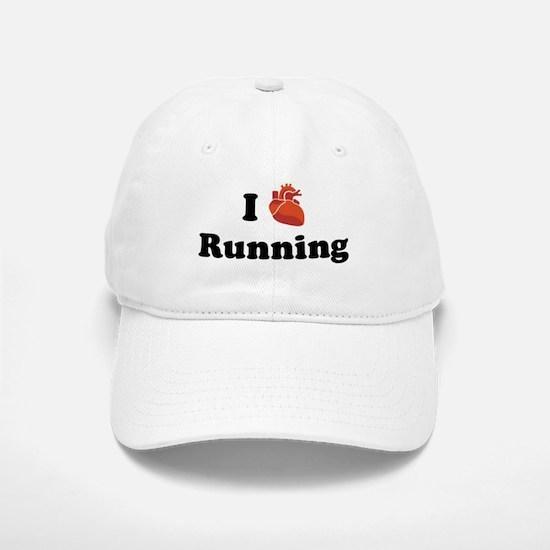 I (Heart) Running Baseball Baseball Cap