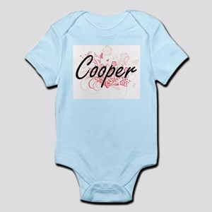 Cooper Artistic Job Design with Flowers Body Suit