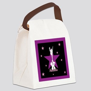 Cheerleader pink Canvas Lunch Bag