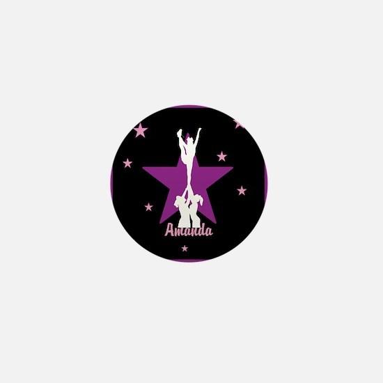 Cheerleader pink Mini Button