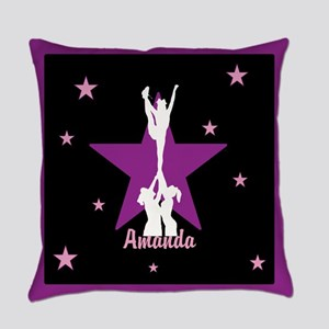 Cheerleader pink Everyday Pillow
