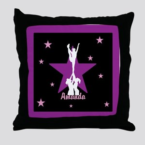 Cheerleader pink Throw Pillow