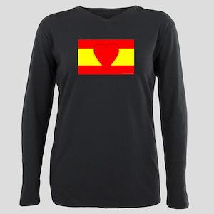 Spain Design Plus Size Long Sleeve Tee