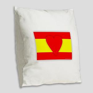 Spain Design Burlap Throw Pillow