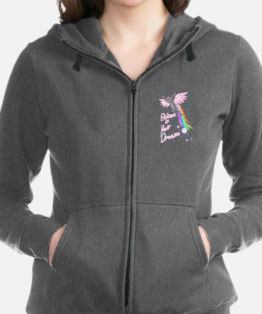 Cute Dreams flying Women's Zip Hoodie