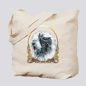 Old English Sheepdog Holiday Tote Bag
