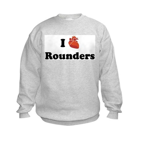 I (Heart) Rounders Kids Sweatshirt
