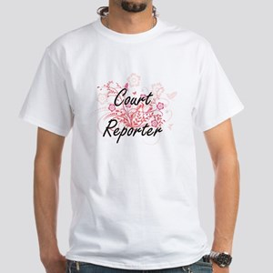Court Reporter Artistic Job Design with Fl T-Shirt