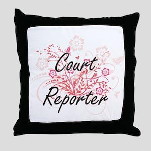 Court Reporter Artistic Job Design wi Throw Pillow