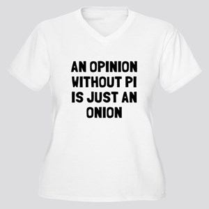 Opinion without p Women's Plus Size V-Neck T-Shirt