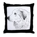 Great Pyrenees Throw Pillow - Head Study