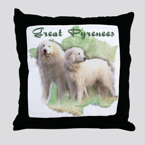 Great Pyrenees Throw Pillow - French Map
