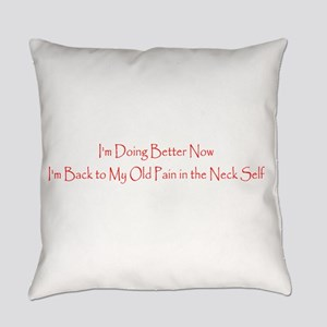 Funny Im Better Now, Back to Being Everyday Pillow